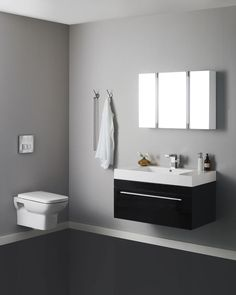 Indulge Your Dark Side With The High Gloss Black Finish Of Midnight Basin And Cabinet This Minimalist Bathroom Furniture Features A Polymarble