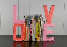 LOVE DIY Bookends for the book lover in your life