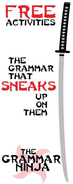 Grammar Ninja Freebies!!! The grammar that sneaks up on them. by Created for Learning