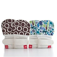 love the cute patterns Guava Kids Guava Mitts, 2-Pack - Tiny Zoo/Cirque-Small/Medium Guava Kids