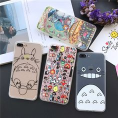 High Quality Cute Totoro Phone Cases Fundas for iPhone 7 6 6S Plus 5 5S SE With Hard Back Cover Soft Frame Coque
