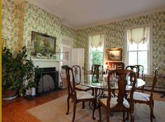 Dining Room of an historic Georgian Style home in Virginia