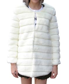 Pure Color Imitated Fur Coat