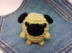 Amigurumi Pug crochet Pug Pug plushieheart. Stuffed by Owlystore