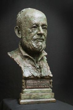 Bust of Alexander McKee by www.luke-shepherd.com unveiled at the Mary Rose Museum 2nd April 2014.  The man who found the Mary Rose Bronze Sculpture, Master Class, Mary, Museum, Statue, Portrait, Gallery, Rose, Faces