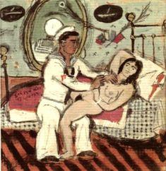 La gouache suivante ne fait partie de la série précédente mais elle est adressée au poète Nikos Kavvadias: Gouache, Greek Art, Gay Art, Portraits, Antiques, Illustration, Greeks, Aesthetics, Paintings