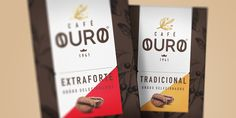 Café Ouro — The Dieline - Branding & Packaging Design