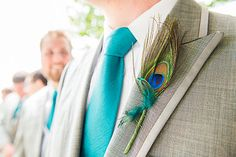Awesome choice for a groom's attire on a Peacock Themed Wedding