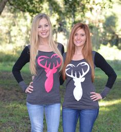 Sporty Girl Apparel - Gray with black sleeve buck heat , $33.95 (http://www.sportygirlapparel.com/gray-with-black-sleeve-buck-heat/)