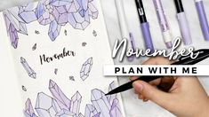 PLAN WITH ME | November 2017 Bullet Journal Setup - YouTube