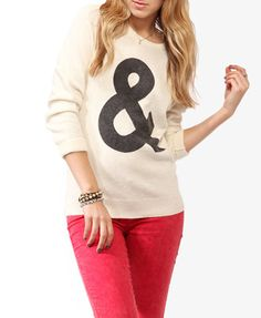 Forever 21 Ampersand Graphic Sweater $27.80