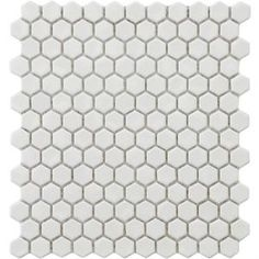 Metro Hex Glossy White 12 in. x 10-7/8 in. Porcelain Mosaic Floor and Wall Tile-FXLMHW at The Home Depot. $5.95 per sq ft
