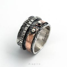#silverring #vintagering #copperring #womensstyle #womensfashion #silverband #handmadering #contemporaryjewelry #oxidisedsilver #casualring #widering #hammeredring