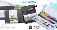 Hahnemühle Sketchbooks & Da Vinci Watercolor Giveaway!
