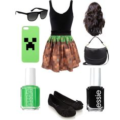 Minecraft outfit for girls! Ive never seen girl stuff for minecraft before