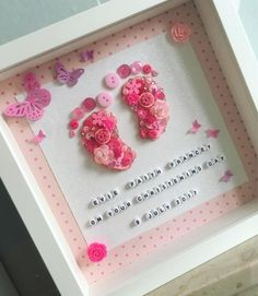 Are you looking for a unique gift for a new baby or a special gift for a Christening? My Button Baby Baby Crafts, Diy And Crafts, Arts And Crafts, Button Art, Button Crafts, Baby Girl Gifts, New Baby Gifts, Baby Design, Diy Gifts