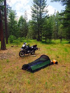 Camping north of Winthrop Wa.  Hans had set up camp mid afternoon, determined to claim one of the better sites.
