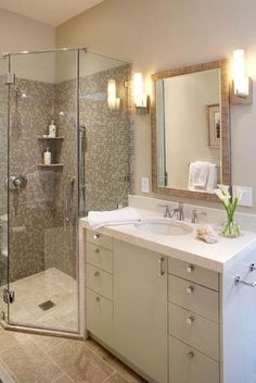 Small Shower Remodel, Small Bathroom With Shower, Small Showers, Modern Bathroom, Master Bathroom, Bathroom Ideas, Shower Ideas, Master Shower, Budget Bathroom