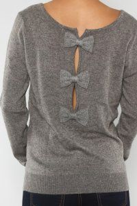 Charcoal Grey Bowback Sweater