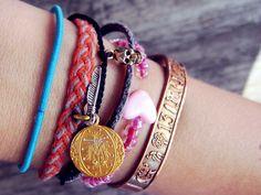 Love stacking bracelets.