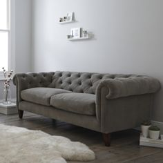 Hampstead Sofa Velvet - 2 Colours from The White Company
