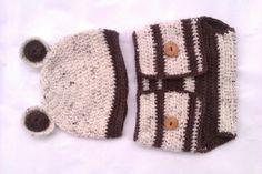 Babyfotographie Mütze und Windelhose Bär, Geburt