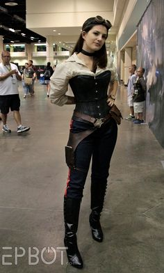 Female Steampunk Han Solo. Now i really like that, all she needs is a long coat but it's nice, simple.