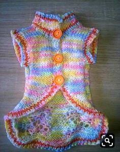 Crochet Dog Sweater Free Pattern, Crochet Dolls Free Patterns, Knit Dog Sweater, Dog Sweaters, Knit Crochet, Yorkie Clothes, Pet Clothes, Pet Fashion, Animal Fashion