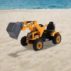 Kids Electric Excavator Ride On Toy 6V Battery Operated Dumper Tractor Digger #KidsElectricExcavator