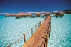 Bora Bora- nothing like sleeping right over the water in an overwater bungalow
