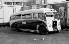 South Midland 73, EBD236, seen at Victoria Coach Station was an E.C.W. FC31F bodied Bristol L6B, new in 1950, acquired from United Counties in May 1952