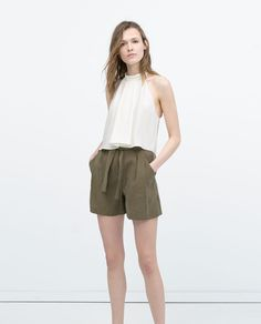 HIGH-WAISTED SHORTS WITH BELT-Shorts-WOMAN | ZARA United States