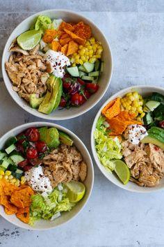 Healthy Salad Recipes, Raw Food Recipes, Mexican Food Recipes, Healthy Breakfast Snacks, Healthy Eating, A Food, Good Food, Gourmet Salad, Dinner Salads