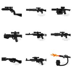 New BrickArms minifigure guns in stock, including an awesome flame thrower with backpack - www.firestartoys.com #lego #minifigures #legocustom #moc #legomoc #legominifigure #minifig #minifigs #AFOL #firestarlego #brickarms