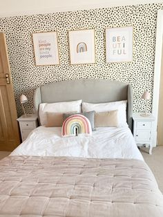 It's official, I have a new favourite room in the house & now it's finished I can safely say it's probably been the most fun… Big Girl Bedrooms, Girl Bedroom Walls, Girl Bedroom Designs, Dream Bedroom, Dream Rooms, Home Bedroom, Girl Room, Girls Bedroom Decorating, Spare Bedroom Ideas