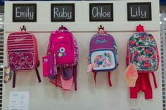 "Back to school visual merchandising, ""backpack station"" Westfield Whitford City #designmerchants"
