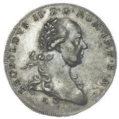 1/2 Taler 1791 K/G C B RDR Haus Österreich Leopold II. 1790 - 1792