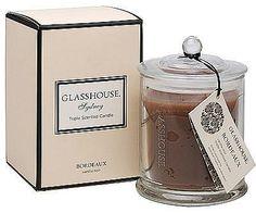 Glasshouse candles. Yum.