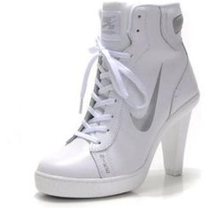 http://www.asneakers4u.com/ Nike Dunk SB Swoosh High Heel White