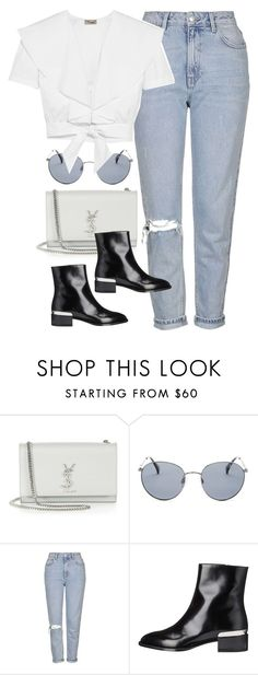 """Untitled #3905"" by amyn99 on Polyvore featuring Yves Saint Laurent, Original Penguin, Topshop, Vince and Temperley London"