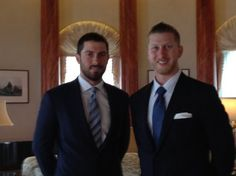 Dustin Ackley and Mike Carp at the U.S. Embassy. Lookin good... Mariners. (Shannon Drayer, MyNorthwest.com)