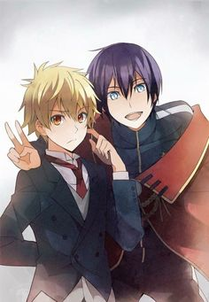 Noragami (ノラガミ) - Yukine and Yato Anime Noragami, Yatogami Noragami, Manga Anime, Yato And Hiyori, Fanarts Anime, Manga Boy, Anime Art, Haikyuu Anime, Chibi