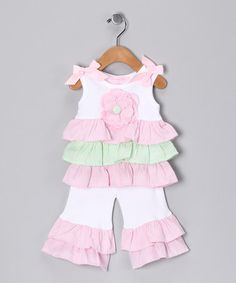 Take a look at this Pink Disco Ruffle Top & Skirt - Infant & Toddler by Mud Pie on #zulily today!