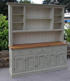 Beautiful dresser - would look lovely in a country kitchen, I love these huge pieces of furniture - A Interior Design Buffet Hutch, Dining Hutch, Tv Hutch, Hutch Cabinet, Dining Area, Furniture Makeover, Diy Furniture, Kitchen Furniture, Country Furniture