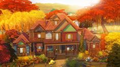 This is my new autumn house ❤❤❤👌🏼 The Sims, Sims 3, Dream Home Gym, Dream Home Design, Sims Building, Building Ideas, Sims 4 Build, Sims 4 Houses, Dream House Exterior