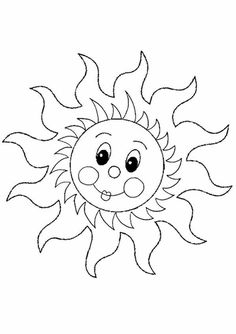 Free Online Sun Colouring Page