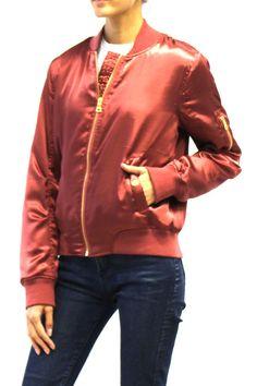 Metallic Satin Bomber Jacket