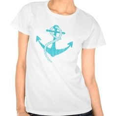 Anchor (Vintage Print, turquoise) T Shirts