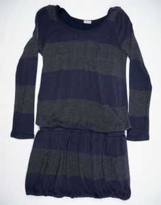 SPLENDID Girls Dress Size 12 Blue Stripe Sparkle Knit Kids #Splendid