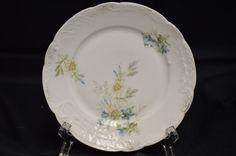 C.T. Carl Tielsch Porcelain Embossed Bread or Dessert Plate Antique Vintage Item #2850 by BigBlossomAntiques on Etsy